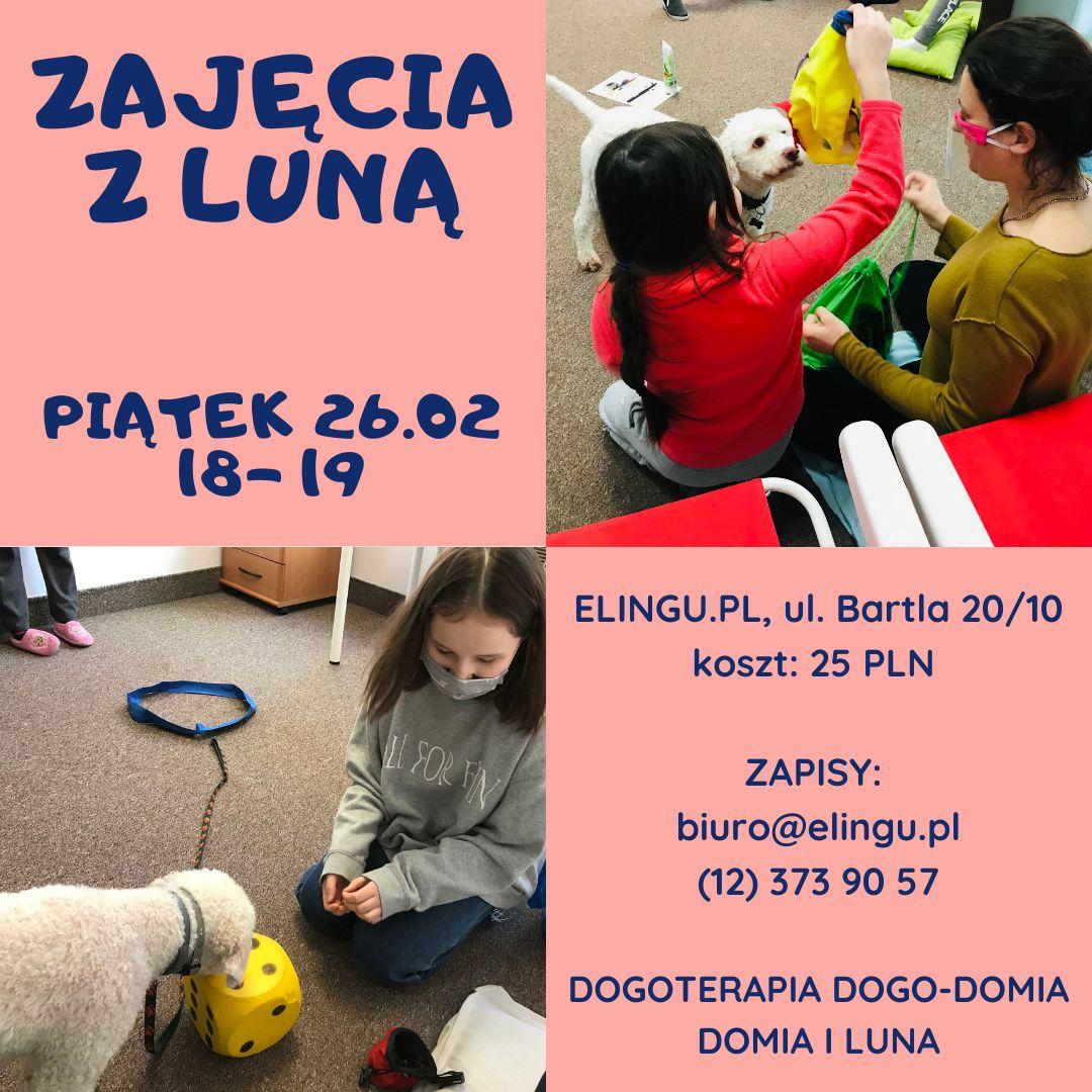 Zajęcia z LUNĄ już 26.02.2021 w ELINGU.PL