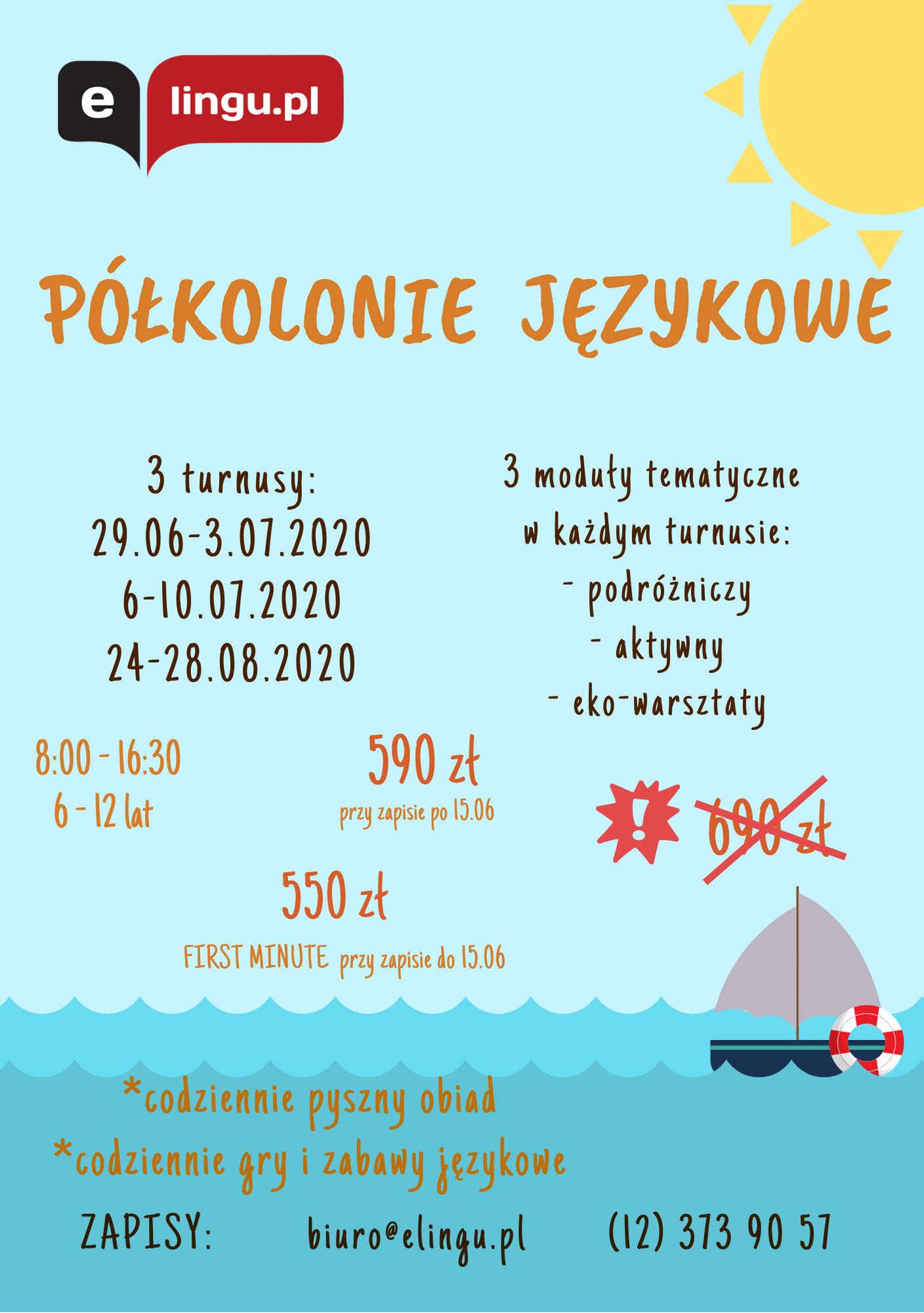 PÓŁKOLONIE ELINGU.PL 2020